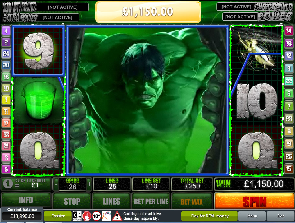 Play The Incredible Hulk Slot